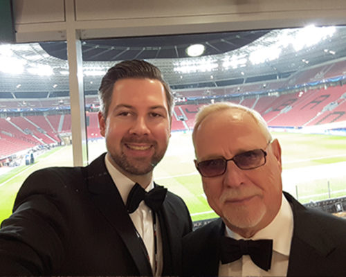 Croupier Selfie in der Veltins-Arena